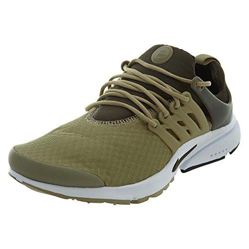 Nike Men's Air Presto Essential Neutral Olive/Cargo Khaki Ankle-High Mesh Basketball Shoe - 7M