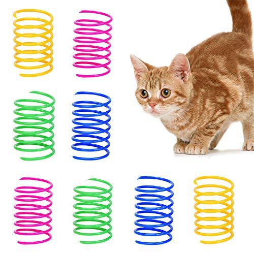 GLOBALDREAM Katzenfeder, 36 Stück Cat Spring Spielzeug Bunte Spirale Katzen Spielzeug Kunststoff Spiralfedern für Katze Kätzchen Haustiere Neuheit Geschenk
