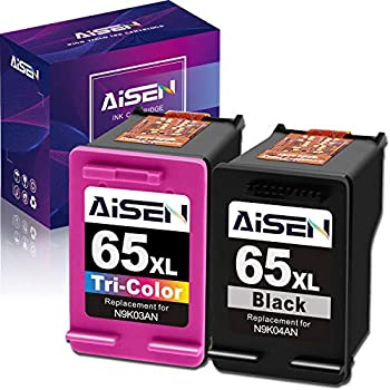 AISEN Remanufactured Ink Cartridge 65 Replacement for HP 65 65XL 65 XL Used in HP Envy 5055 5052 5058 DeskJet 3755 2655 3720 3721 3722 3723 3752 3730 3758 2652 2624 2622  1 Black 1 Tri-Color