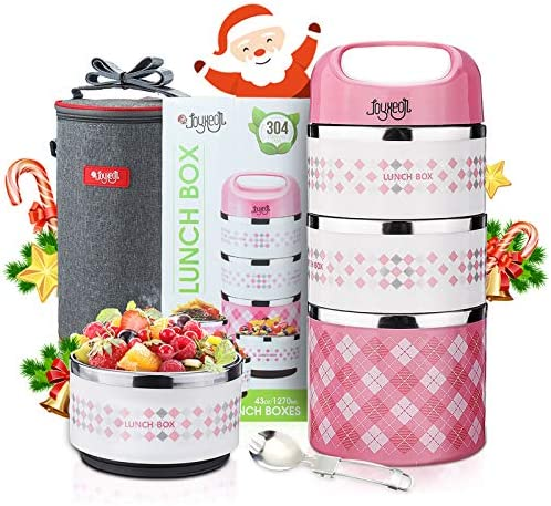 JOYXEON Thermal Lunch Box Stackable Lunch Box 3 Tier Insulated Food Container 304 Stainless product image