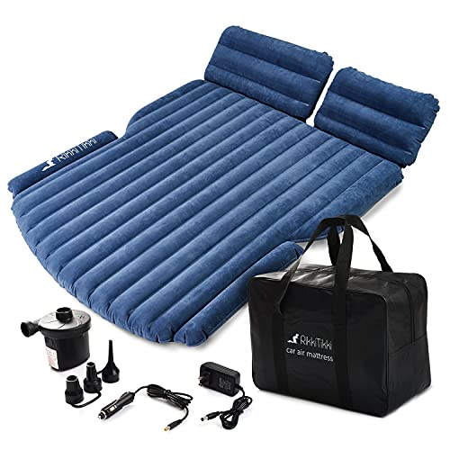 RikkiTikki SUV Air Mattress - Inflatable Car Mattress with Pump and Suitcase - Car Mattress SUV, Minivan, Hatchback, Camping Tent