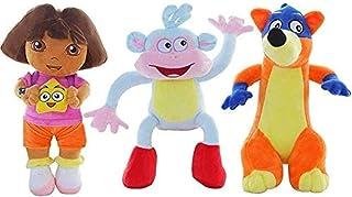 NC56 3pcs 25cm Genuine Love Adventure of Dora Monkey Boots Swiper Plush Toy Stuffed Soft Tv & Movies Game Doll Kids Gift