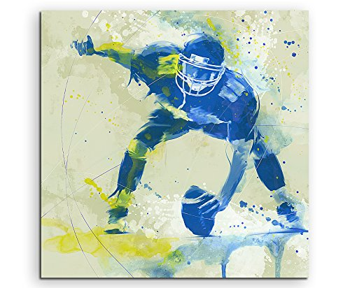Paul Sinus Art American Football II 60x60cm SPORTBILDER Splash Art Wandbild Aquarell Art