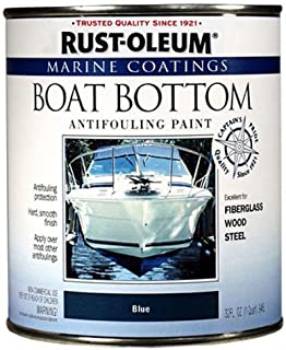 Rust-Oleum 207013 Marine Flat Boat Bottom Antifouling Paint, Quart, Blue