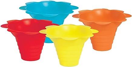 Paragon 4-Ounce Sno-Cone Flower Drip Tray Cups,  Multicolor,  100-Cup Case