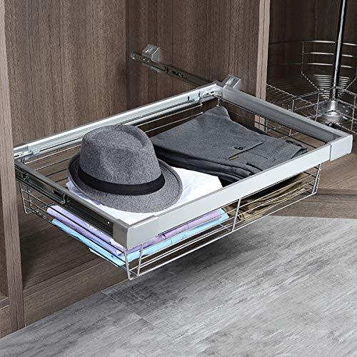 LHY-Shelf LJ Canasta de Ropa extraíble, estantes de Almacenamiento para gabinetes, cajón Deslizante para gabinetes para armarios, armarios, Ahorro de Espacio y Almacenamiento máximo, Marco de Alambre