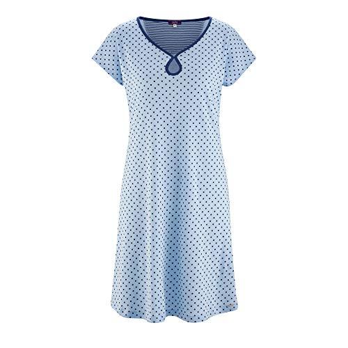 Living Crafts Nachthemd S, bleu/dots