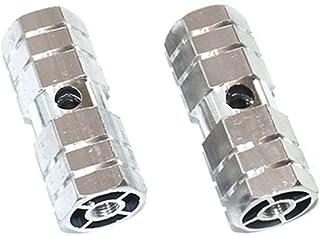 BMX plastique essieu chevilles PEG FITS 3//8 ou 14 mm Paire Rouge