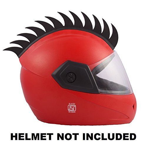 Autofy Helmet Accessory Cuttable Rubber Mohawk / Spikes for All Motorcycles Dirt...