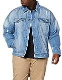 Urban Classics Ripped Denim Jacket, Giacca in Jeans Uomo, Blu (Bleached), Medium