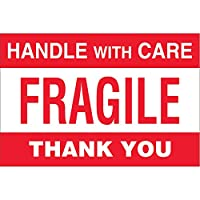 "4 "" x 6 "" Handle With Care Fragile Thank Youラベル( 500 per Roll )"