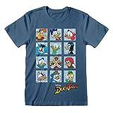 Disney Piazze Carattere Ducktales T-Shirt da Uomo Blu Indaco...