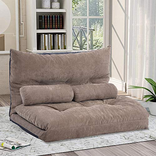 Floor Sofa Adjustable Lazy Bed, Folding Sofa Couch with...