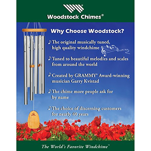Woodstock Chimes - The ORIGINAL Guaranteed Musically Tuned Chime, Zenergy Door Chime