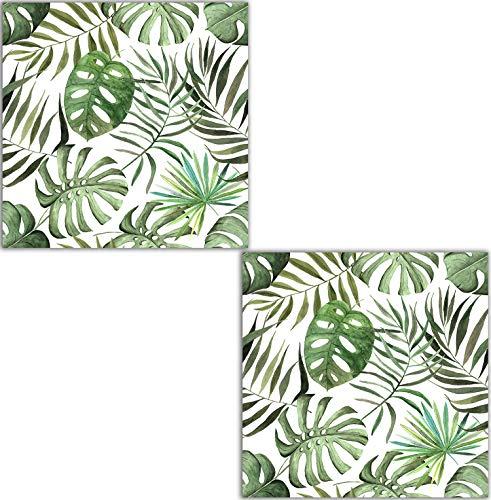 Vintage Tropics Pattern 41 Two 6 X 6 Inches Ceramico Losas Azulejos de cerámica decorativos