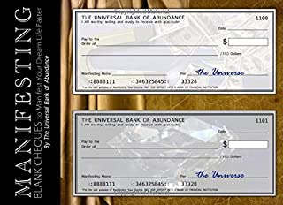 Manifesting Blank Cheques to Manifest Your Dream Life Faster: Your Personal Secret Checkbook Journal with 50 Law of Attraction Checks (Beginner's LOA for Financial Freedom)