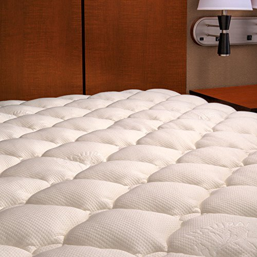 Extra Plush Bamboo Top Mattress Pad New with Manufacturer...