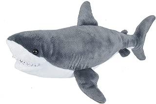 Wild Republic Great White Shark Plush Stuffed Animal Toy, Gifts for Kids, Cuddlekins 20 Inches