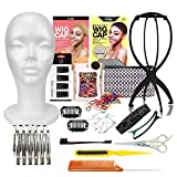 Studio Limited 16pcs DIY Styrofoam Head Set, DIY Wig Making Starter Kit, Wig Stand for hair display