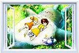Aesthetic Hayao Miyazaki's My Neighbor Totoro Stickers Decorative Wallpaper Wall Decals B533