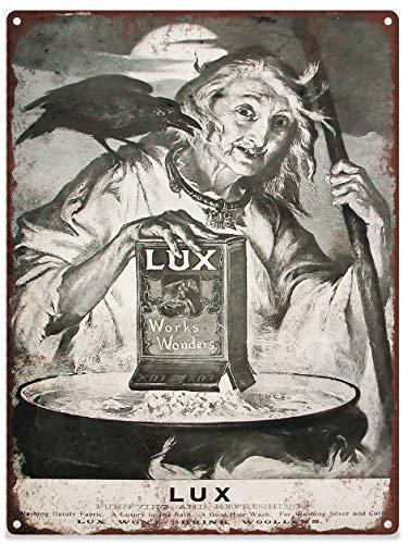 Yohoba 1905 Lux zeep heks halloween reclame ad gebakken metaal repro teken 12
