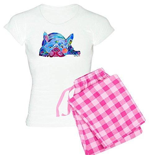 CafePress French Bulldog Frenchies Women's Light Pajamas Womens Novelty Cotton Pajama Set, Comfortable PJ Sleepwear