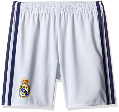 adidas Kinder Shorts Real Madrid Heim, Crystal White/Raw Purple, 176, AI5202