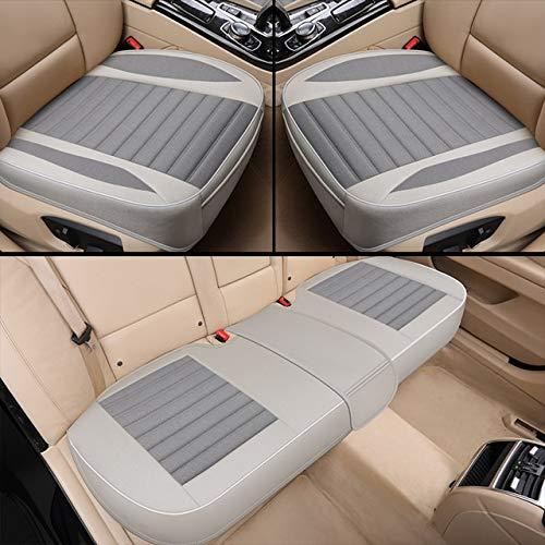 Diommest 1 Satz Auto-Sitzabdeckung, Flachs Kissen Seasons Universal-atmungsaktiv, ideal for die meisten viertürigen Limousine & SUV Ultra Auto-Sitzschutz (Color Name : Silver)