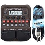 Zoom A1 - Aparato de efectos para instrumentos acústicos (incluye cable jack keepdrum de 3 m)
