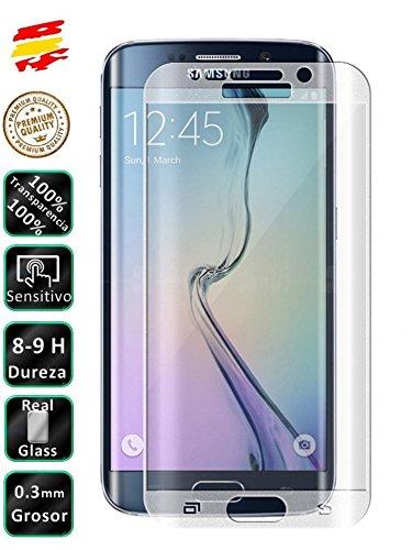 Movilrey Protector para Samsung Galaxy S6 Edge Color Transparente Completo 3D Cristal Templado de Pantalla Vidrio Curvo para movil
