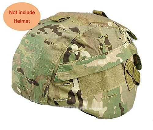 H World Shopping Tactical Airsoft Military MICH 2000 Ver2 Helmet Cover with Back Pouch (MC)