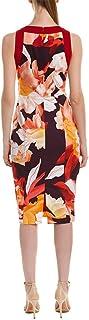 Black Halo Womens 8779259 Rohan Cb Sheath Sleeveless Dress - Multi
