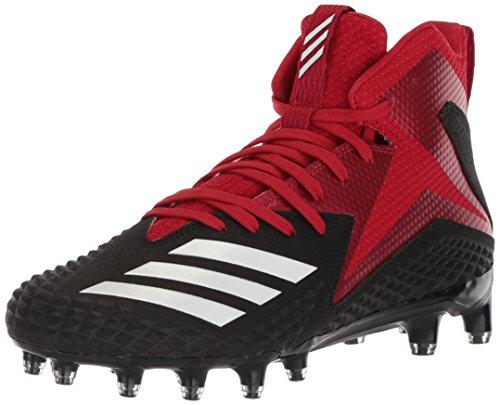 adidas Men's Freak x Carbon Mid Cleats Football Shoe, Black/White/Power red, 11 M US