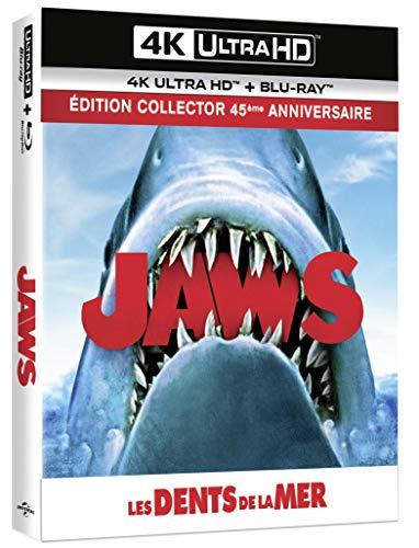 Les Dents de la mer [4K Ultra HD + Blu-Ray-Édition 45e Anniversaire-Boîtier SteelBook Collector lenticulaire + livret]
