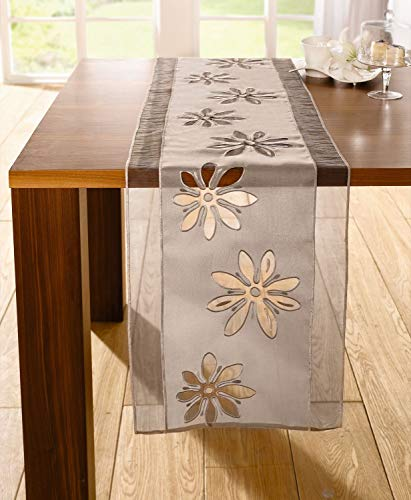 Table runner tablerunner Organzaflower by Frank Flechtwaren