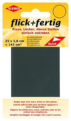 Kleiber 145 cm² Flick und Fertig Selbstklebendes Reparaturband aus Nylon, grau