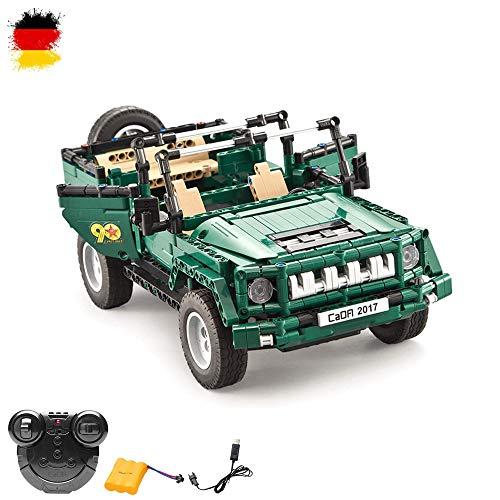 HSP Himoto 2.4GHz RC ferngesteuertes DIY Konstruktion Militär Army Jeep Truck Pickup aus Bausteine/Steckbausatz zum Selberbauen Basteln,Komplett-Set Inkl. Akku und Ladegerät