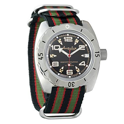Vostok Amphibian 150335 - Reloj de pulsera automático para hombre, diseño de bomba de buceo militar