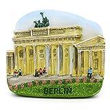 Puerta de Brandenburgo Berlín Alemania 3D Imán de resina pintado a mano Castillo de Neuschwanstein...