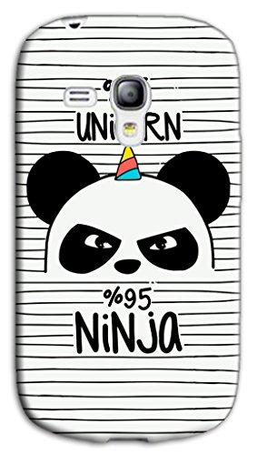 Mixroom - Cover Custodia Case in TPU Silicone Morbida per Samsung Galaxy S3 Mini I8200 I8190 M692 Panda 5% Unicorno