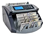 Cassida USA Money Counter 5520 UV Counterfeit Bill Detection w/ValuCount Mode to Batch Financial Reports, Black, Silver (5520UV)