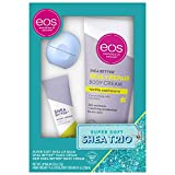 eos Lip Balm, Hand and Body Lotion - Caramel Brulée Sleigh and Vanilla Cashmere Skin Care Gift Set 24 Hour Hydration...