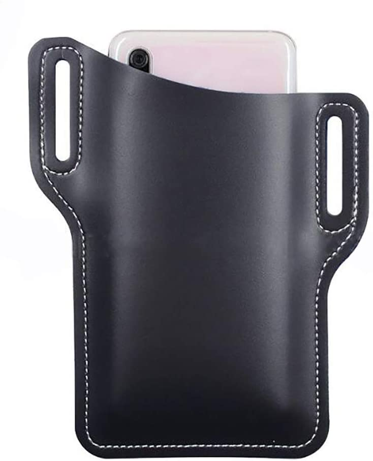 Firecolor Cell Phone Holster Case Men PU Leather Belt Clip Pouch,Navy Blue
