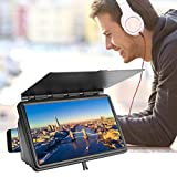 Lupa de Pantalla de 12'para teléfonos Inteligentes, Soporte para amplificación de Pantalla de teléfono móvil Full HD 3D, proyector de películas Video Celular Ampliador de Pantalla(Black)