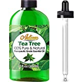 Artizen Tea Tree Essential Oil (100% Pure & Natural - Undiluted) Therapeutic Grade - Huge 2oz Bottle - Perfect for Aromatherapy, Relaxation, Skin Therapy & More!