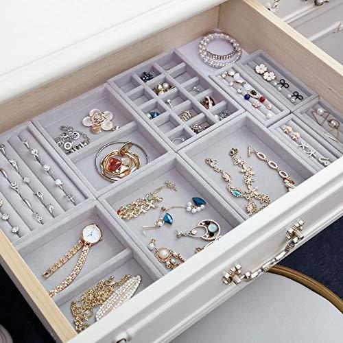 Bandeja de joyería, organizador de exhibición de escaparate, bandeja de almacenamiento de joyería, caja de regalo de pulsera de anillo de bricolaje, organizador de joyería, soporte para pendientes