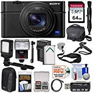 Sony Cyber-Shot DSC-RX100 VI 4K Wi-Fi Digital Camera with 64GB Card + Battery & Charger + Cases + Flash + LED + Grip & Tripod + Strap + Kit