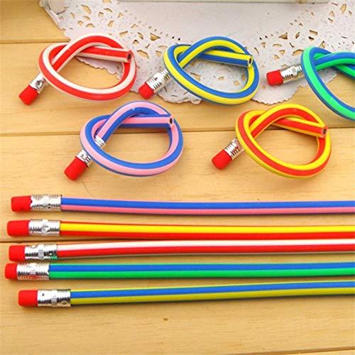 NIUPAN 20 Koreaanse briefpapier kleurrijke magie flexibel zacht non-breaking potlood met gum student school kantoorgebruik |met rubberen potlood |flexibel zacht potlood |zacht potlood