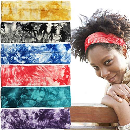 Opplei - Cinta para el pelo para hombre y mujer, 6 unidades, suave y transpirable, para el sudor, para yoga, bicicleta, tenis, baloncesto, gimnasio, correr, B