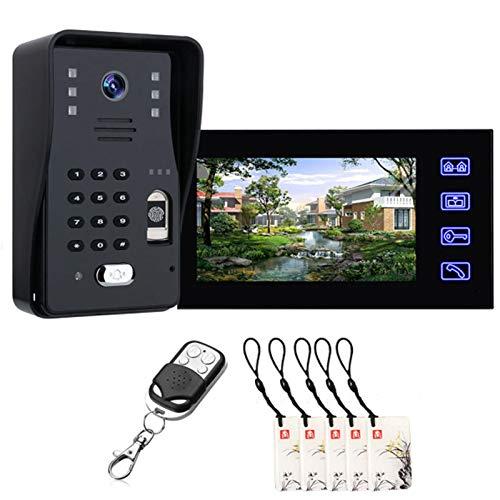 HBHYQ Inicio CCTV cámara de 7 Pulgadas de la Huella Digital...